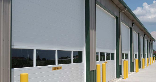 CHI 3216 MICRO-GROOVED COMMERCIAL OVERHEAD SECTIONAL DOOR