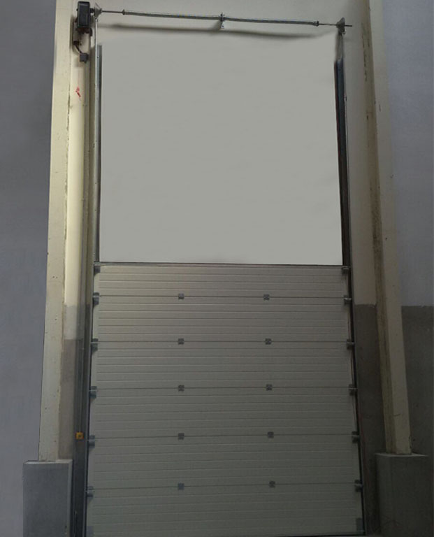 INDUSTRIAL OVERHEAD SECTIONAL DOOR VERTICAL LIFT ITALPANNELLI