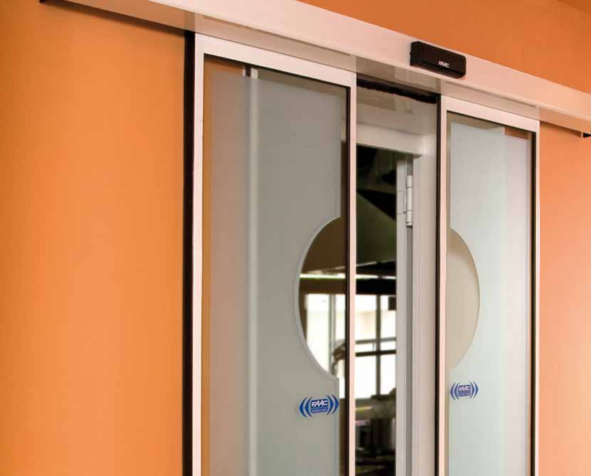 FAAC AUTOMATIONS FOR SLIDING GLASS DOORS